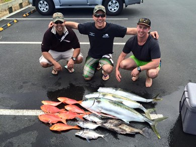 Impressive haul from a weekend club trip out the Alderman Islands.